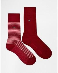 Мужские красные носки в горизонтальную полоску от Levi's