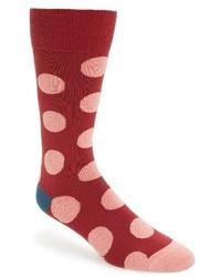 Красные носки в горошек