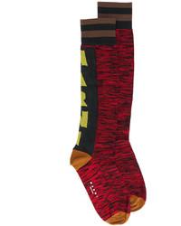 Женские красные носки с принтом от Marni