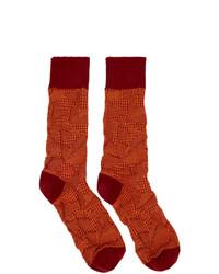 Мужские красные носки от Issey Miyake Men