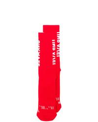 Мужские красные носки от Unravel Project