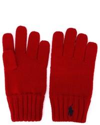 Детские красные перчатки для мальчику от Ralph Lauren