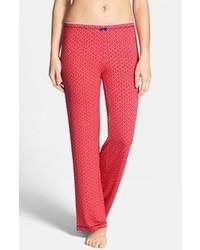 Красные пижамные штаны с геометрическим рисунком