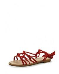 Красные сандалии на плоской подошве от Topshop