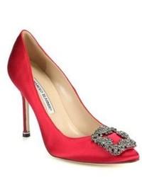 Красные сатиновые туфли