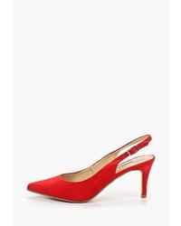 Красные сатиновые туфли от Corina
