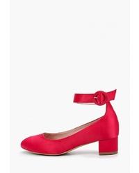 Красные сатиновые туфли от L37
