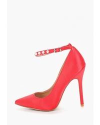 Красные сатиновые туфли от La Bottine Souriante