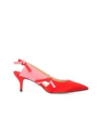 Красные сатиновые туфли от Paul Andrew