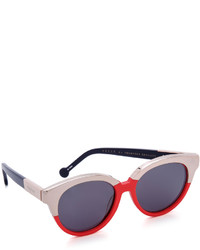 Женские красные солнцезащитные очки