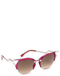 Женские красные солнцезащитные очки от Fendi