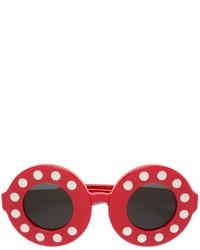 Женские красные солнцезащитные очки от Linda Farrow