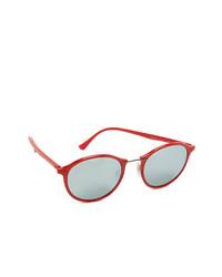 Женские красные солнцезащитные очки от Ray-Ban