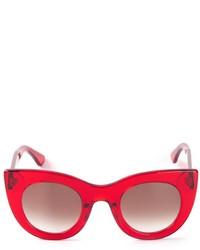 Женские красные солнцезащитные очки от Thierry Lasry