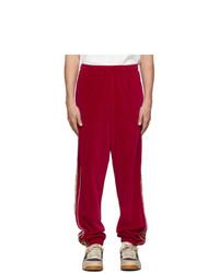 Мужские красные спортивные штаны от Gucci