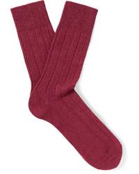 Мужские красные шерстяные вязаные носки от Falke