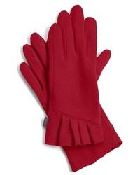 Красные шерстяные перчатки