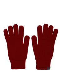 Мужские красные шерстяные перчатки от Ps By Paul Smith