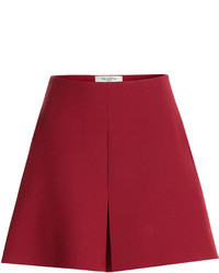 Красные шерстяные шорты