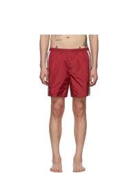 Красные шорты для плавания с принтом от Gucci