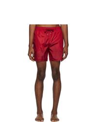 Красные шорты для плавания от Moncler