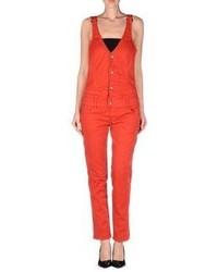 Красные штаны-комбинезон