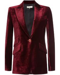Красный бархатный пиджак