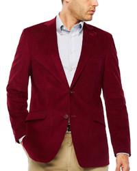 Красный вельветовый пиджак