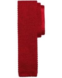 Красный вязаный галстук
