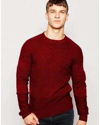 Мужской красный вязаный свитер