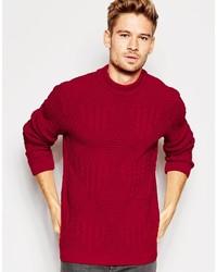 Мужской красный вязаный свитер от Asos