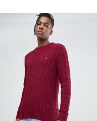 Мужской красный вязаный свитер от Farah