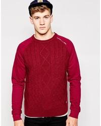 Мужской красный вязаный свитер от Firetrap
