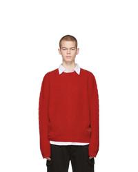 Мужской красный вязаный свитер от Gucci