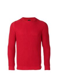 Мужской красный вязаный свитер от Mp Massimo Piombo