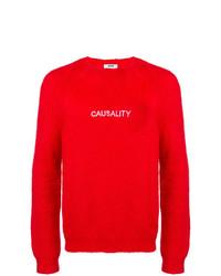 Мужской красный вязаный свитер от MSGM