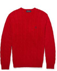 Мужской красный вязаный свитер от Polo Ralph Lauren