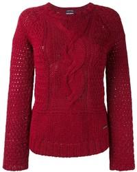 Женский красный вязаный свитер от Woolrich