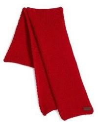 Красный вязаный шарф