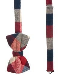 Мужской красный галстук-бабочка в шотландскую клетку от Asos