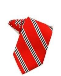 Красный галстук в вертикальную полоску