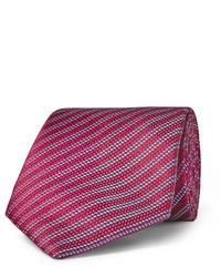 Мужской красный галстук в горизонтальную полоску от Charvet