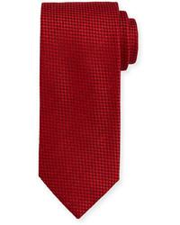 Красный галстук в клетку