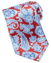 """Красный галстук с """"огурцами"""""""