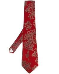 Мужской красный галстук с принтом