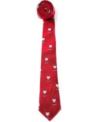 Женский красный галстук с принтом от Band Of Outsiders