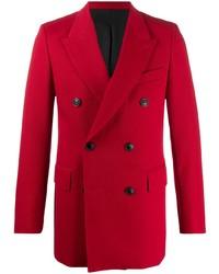 Мужской красный двубортный пиджак от Ami