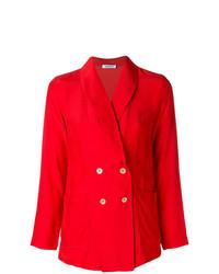 Женский красный двубортный пиджак от P.A.R.O.S.H.