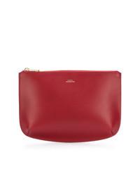 Красный кожаный клатч от A.P.C.