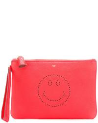 Красный кожаный клатч от Anya Hindmarch